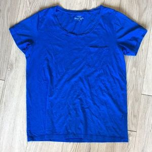 J.crew Blue Garment Dyed Tee size small